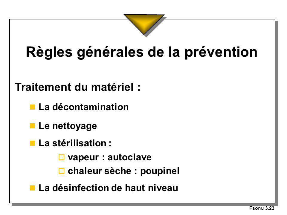 Règles générales de la prévention