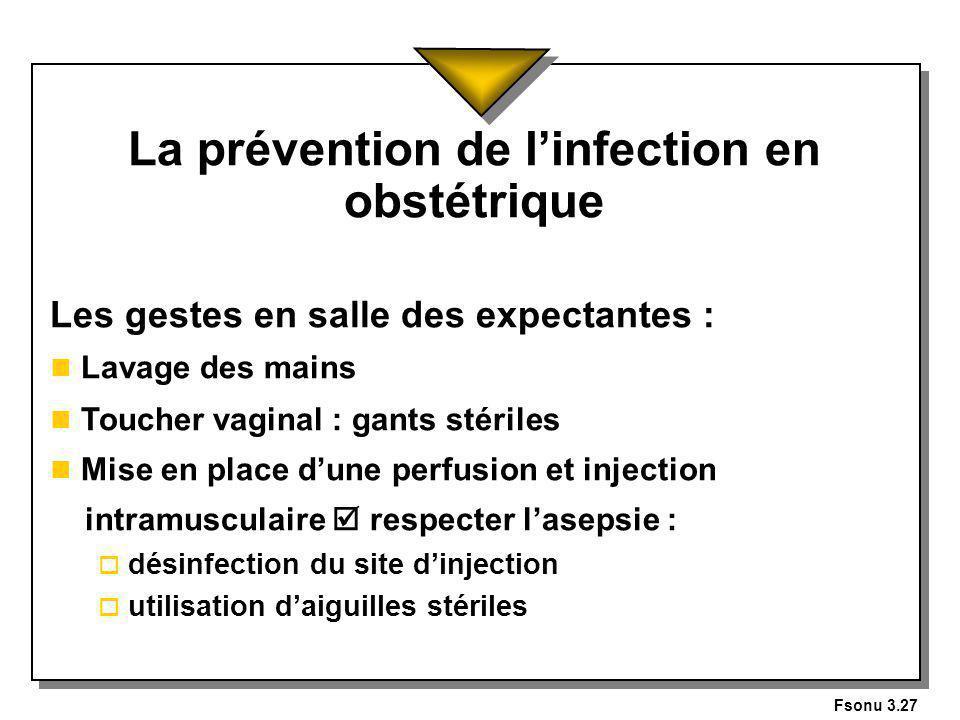 La prévention de l'infection en obstétrique