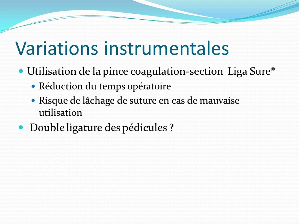 Variations instrumentales