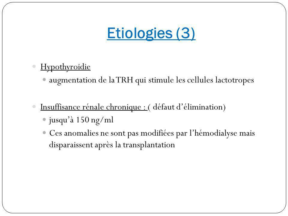 Etiologies (3) Hypothyroidie