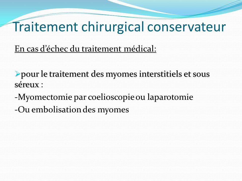 Traitement chirurgical conservateur