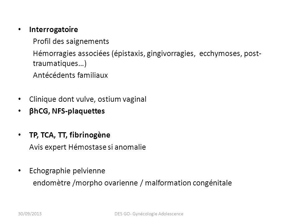 DES GO- Gynécologie Adolescence