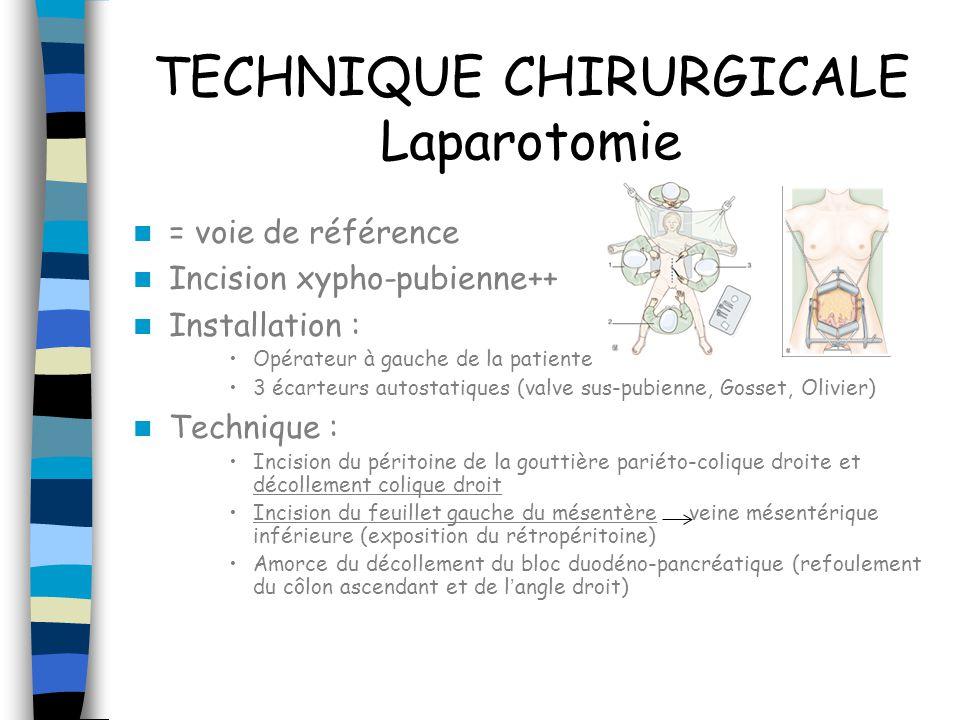 TECHNIQUE CHIRURGICALE Laparotomie