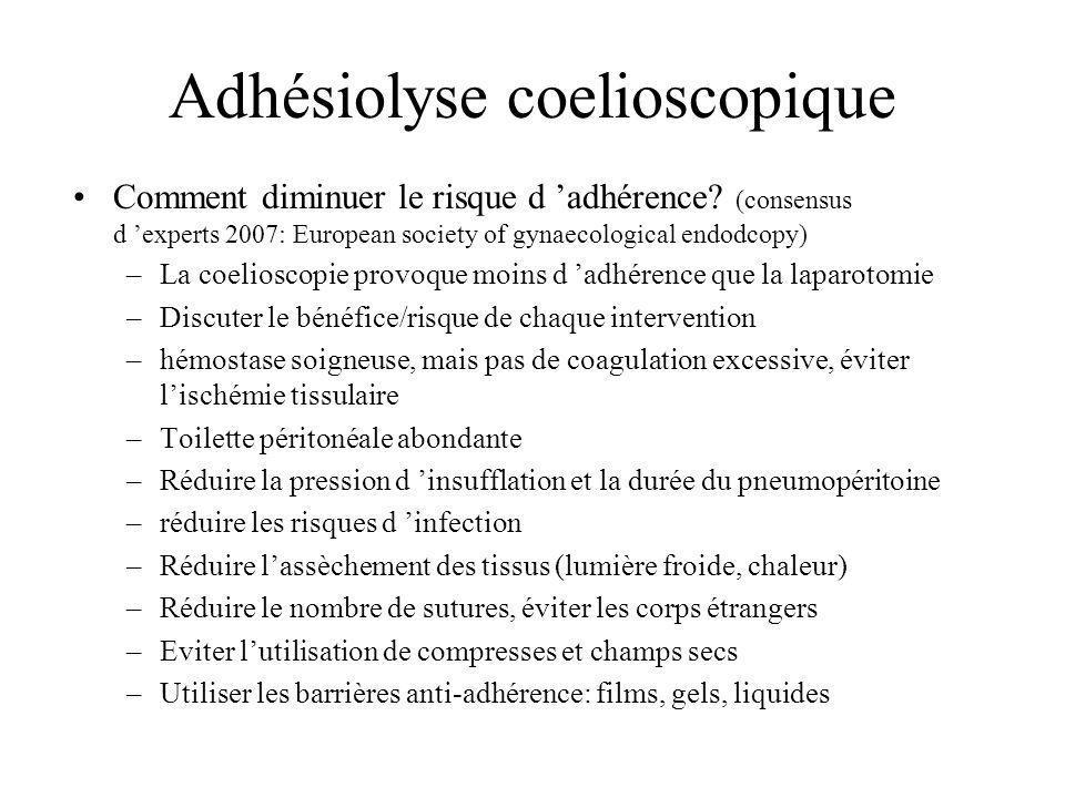 Adhésiolyse coelioscopique