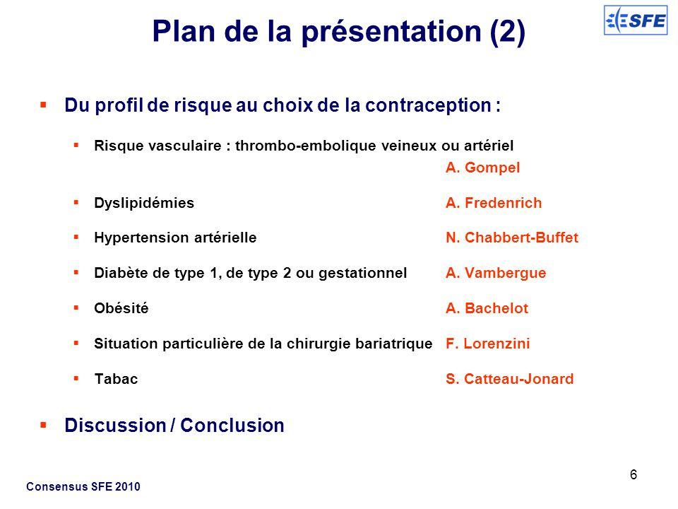 Plan de la présentation (2)