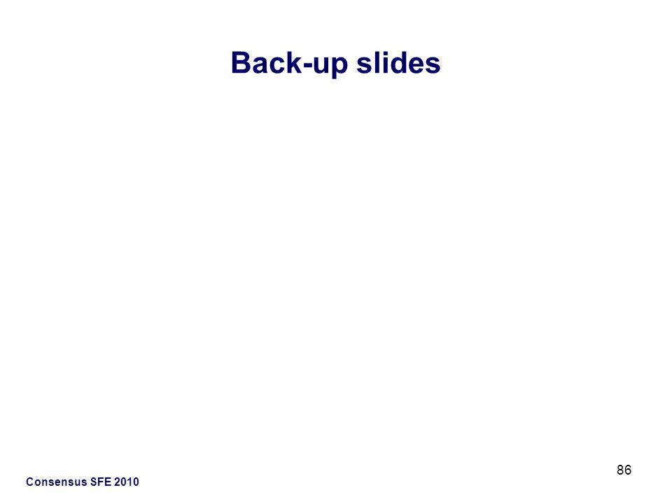 Back-up slides Consensus SFE 2010