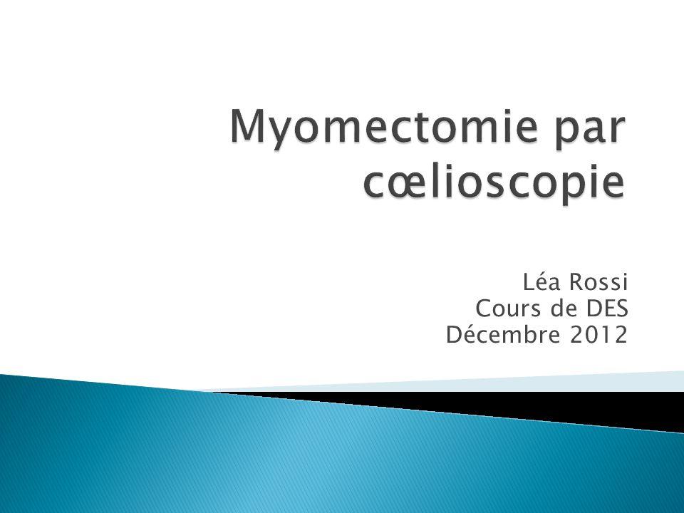 Myomectomie par cœlioscopie