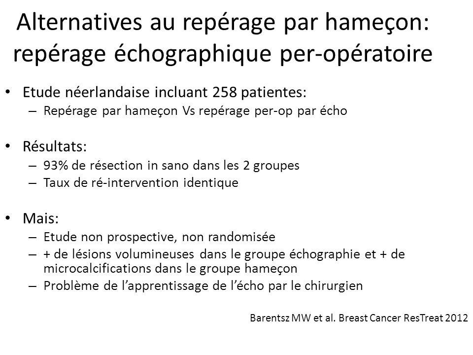 Alternatives au repérage par hameçon: repérage échographique per-opératoire