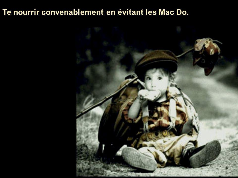 Te nourrir convenablement en évitant les Mac Do.