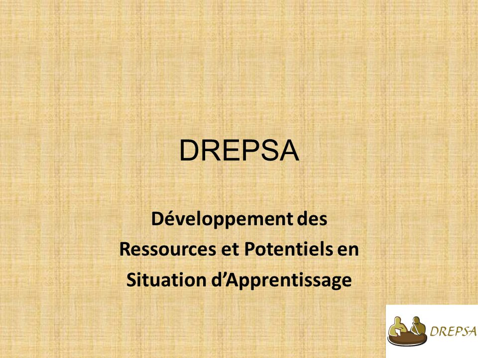 Ressources et Potentiels en Situation d'Apprentissage