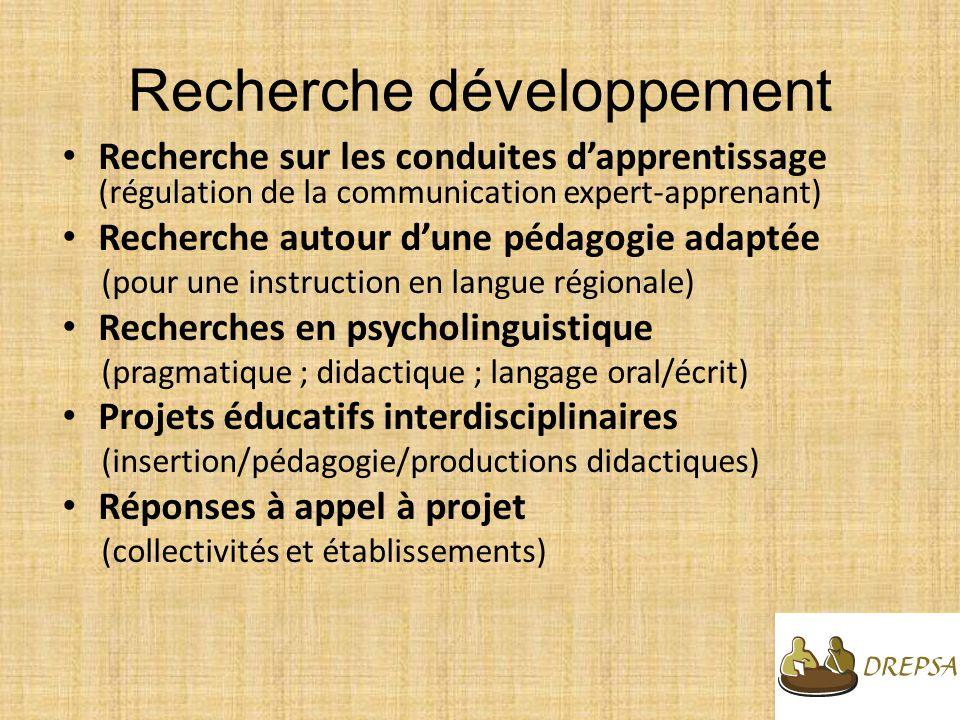Recherche développement