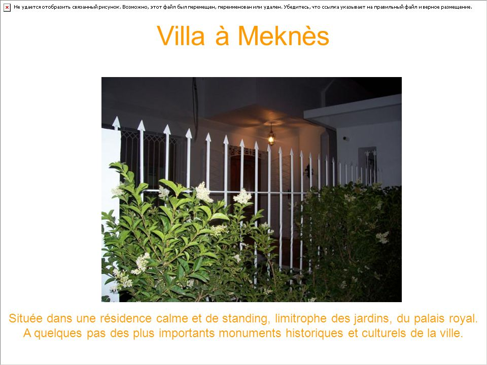 Villa à Meknès