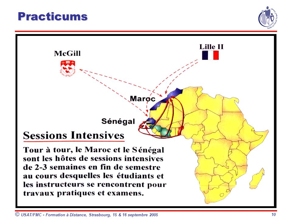 Practicums © USAT/FMC - Formation à Distance, Strasbourg, 15 & 16 septembre 2005