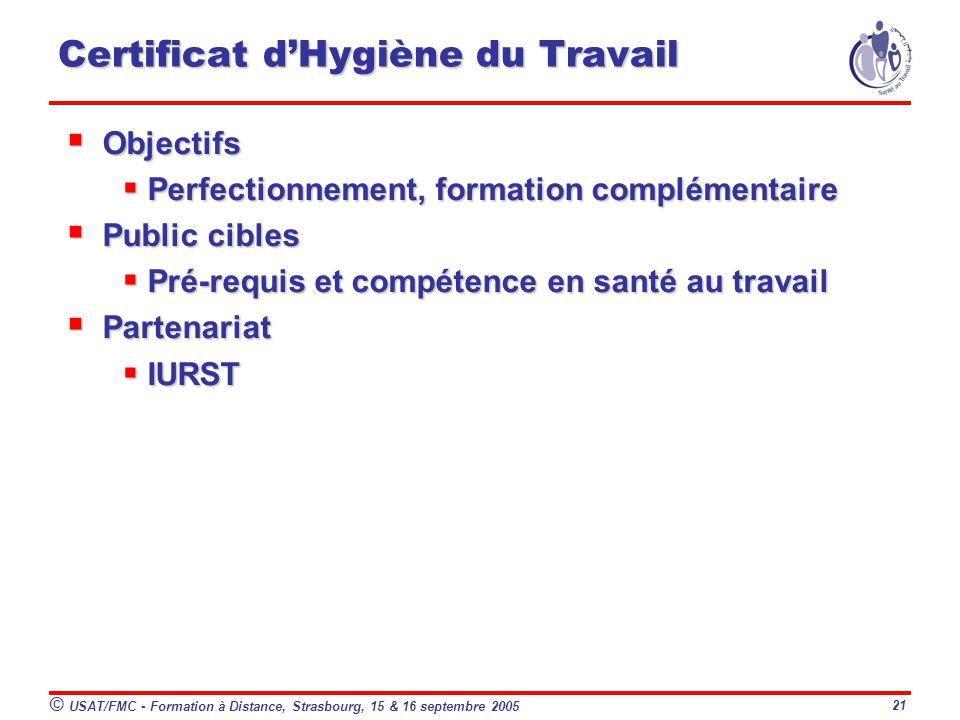 Certificat d'Hygiène du Travail