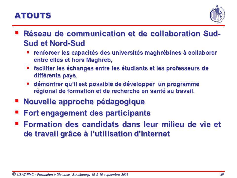 Réseau de communication et de collaboration Sud-Sud et Nord-Sud