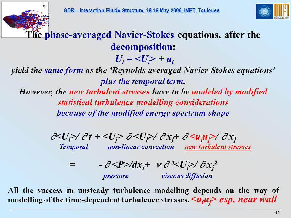 The phase-averaged Navier-Stokes equations, after the decomposition: