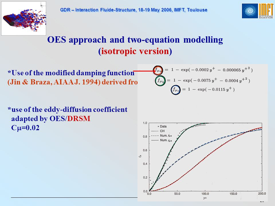 OES approach and two-equation modelling