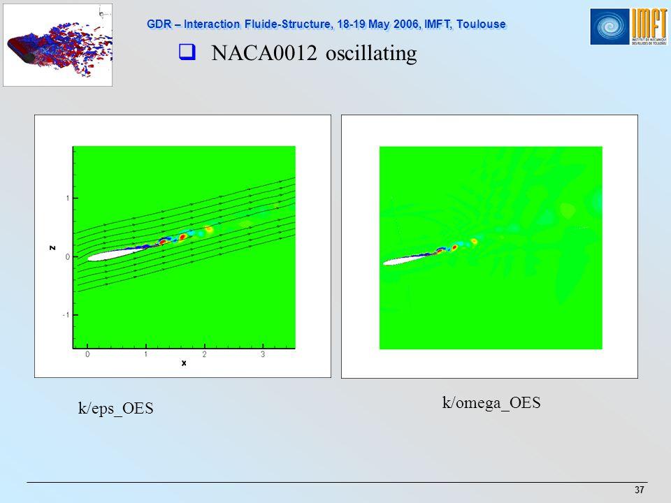 NACA0012 oscillating k/omega_OES k/eps_OES 37