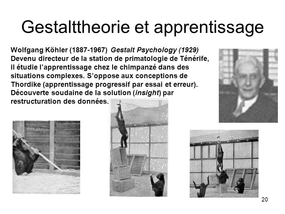 Gestalttheorie et apprentissage