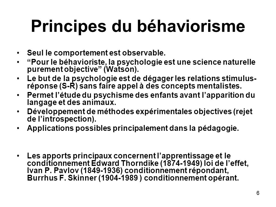 Principes du béhaviorisme