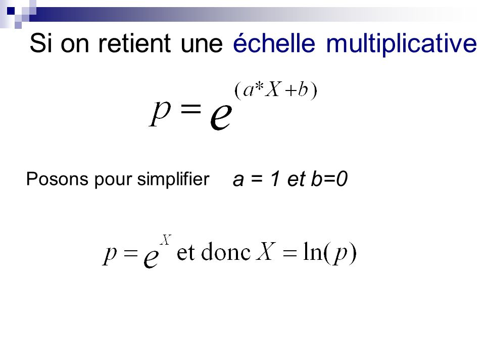 Si on retient une échelle multiplicative