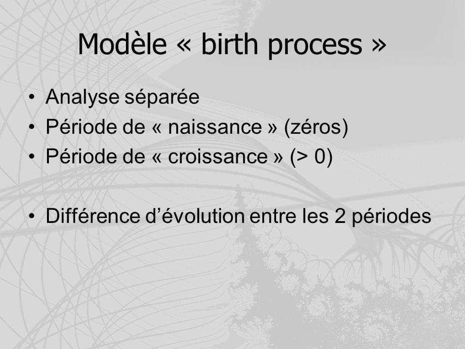 Modèle « birth process »