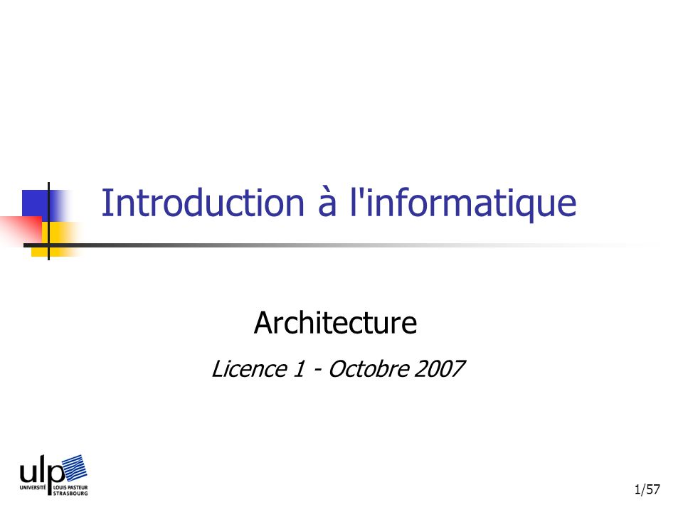 Introduction à l informatique
