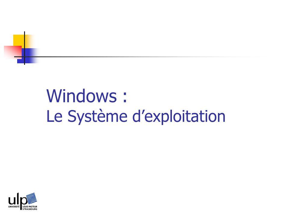 Windows : Le Système d'exploitation