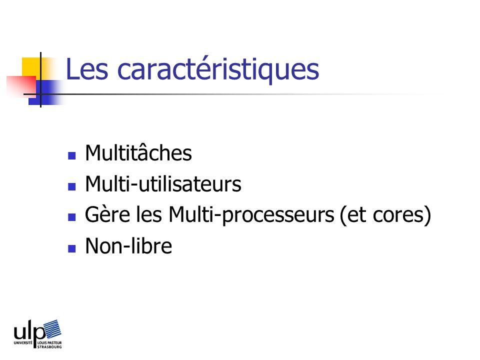 Les caractéristiques Multitâches Multi-utilisateurs