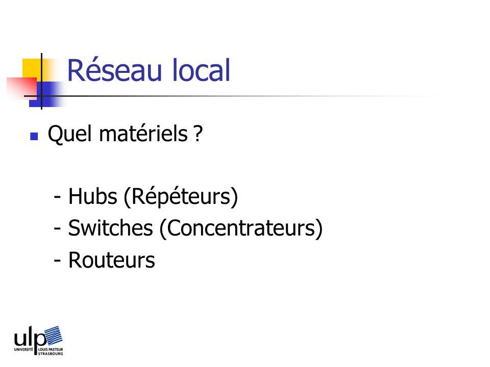 Réseau local Quel matériels - Hubs (Répéteurs)