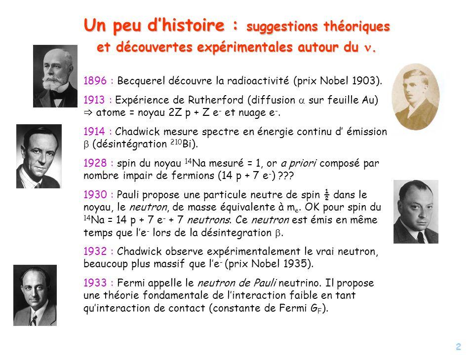 Un peu d'histoire : suggestions théoriques et découvertes expérimentales autour du n.