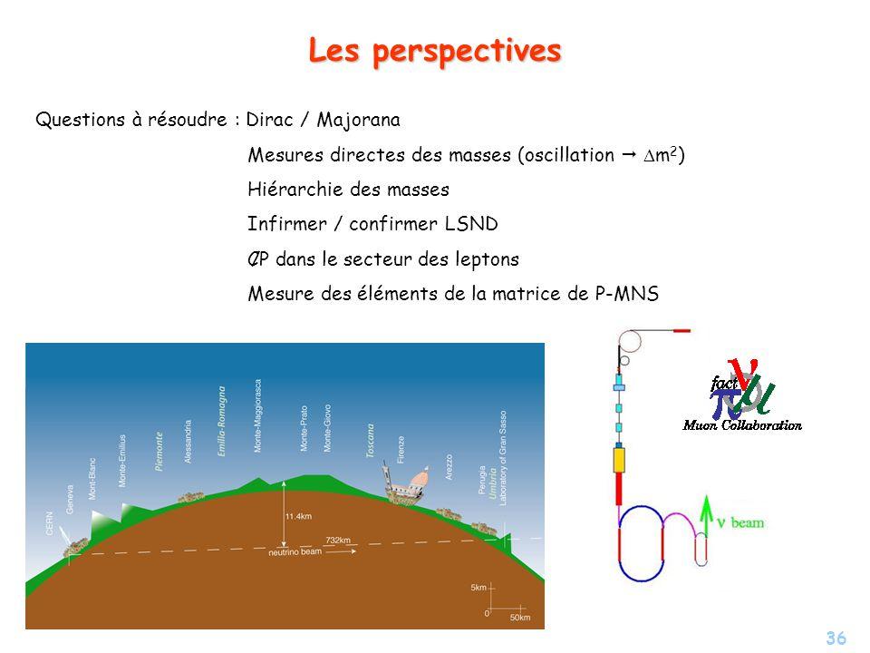 Les perspectives Questions à résoudre : Dirac / Majorana