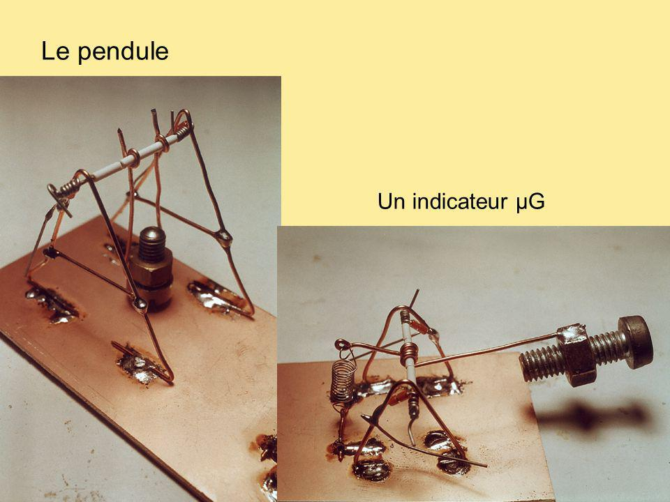 Le pendule Un indicateur µG