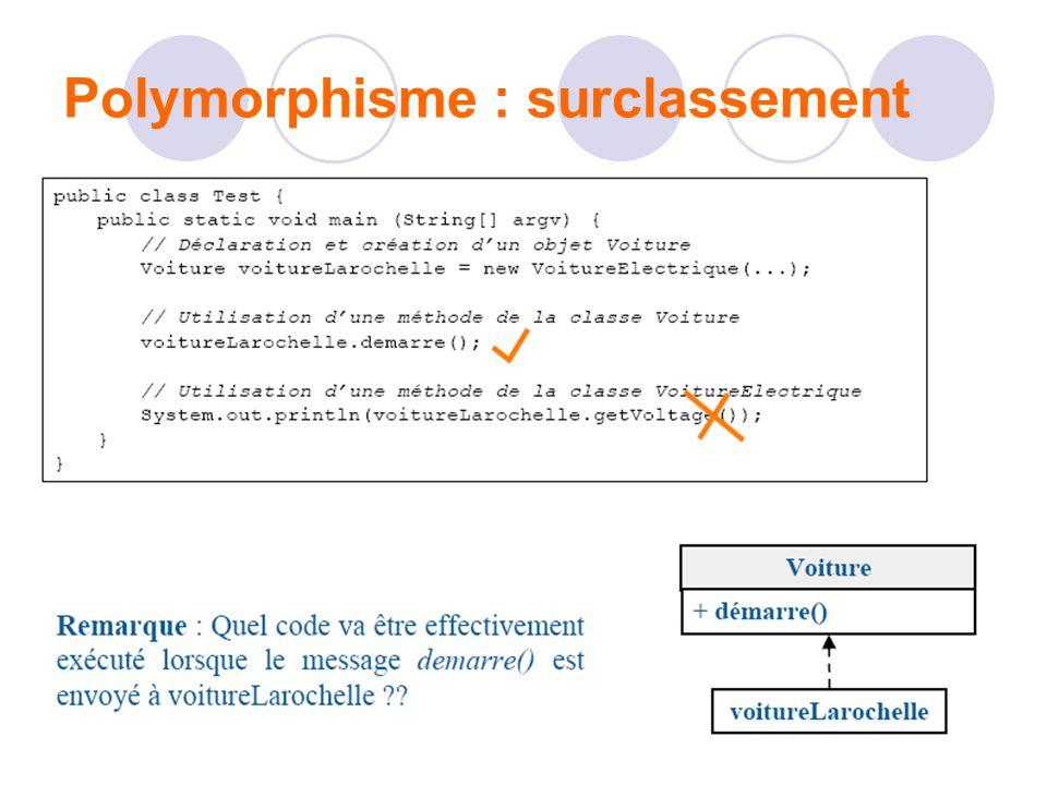 Polymorphisme : surclassement