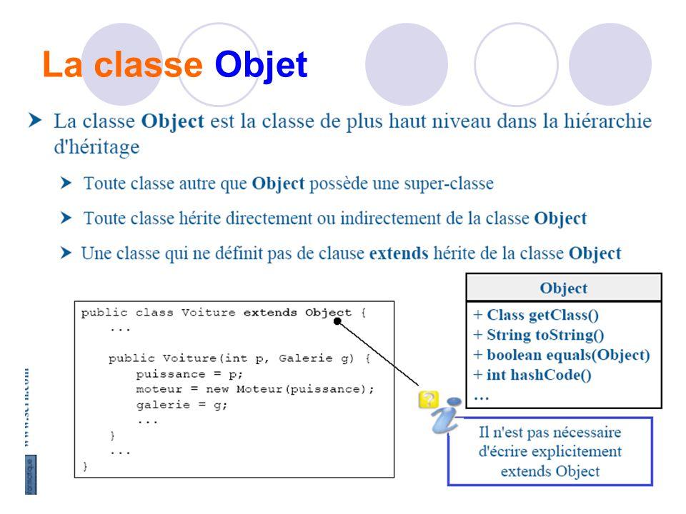 La classe Objet