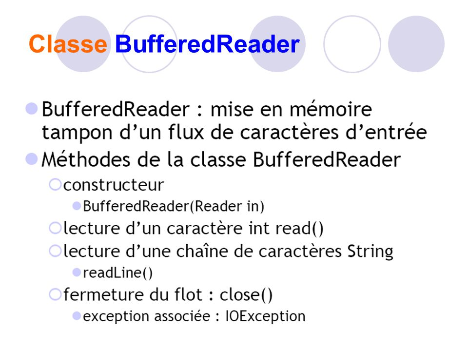 Classe BufferedReader