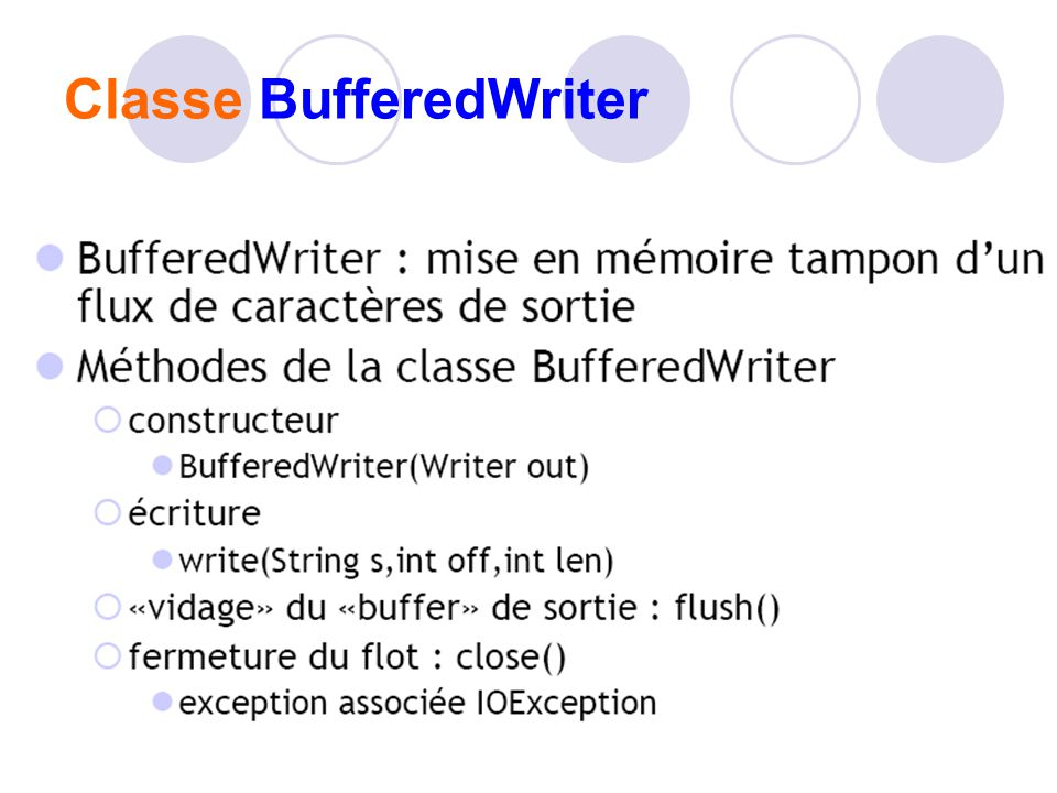 Classe BufferedWriter
