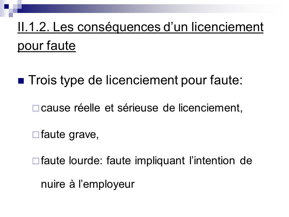 licenciement  demission