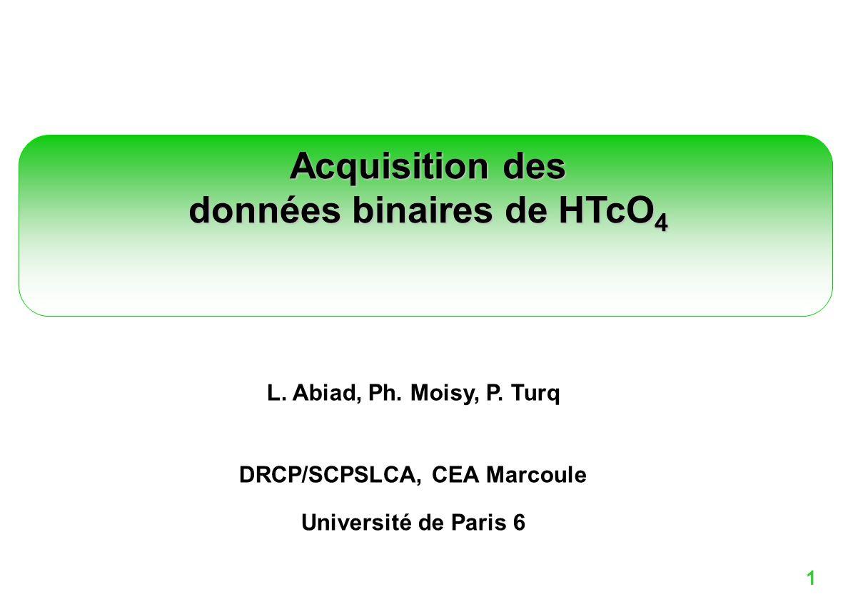 données binaires de HTcO4
