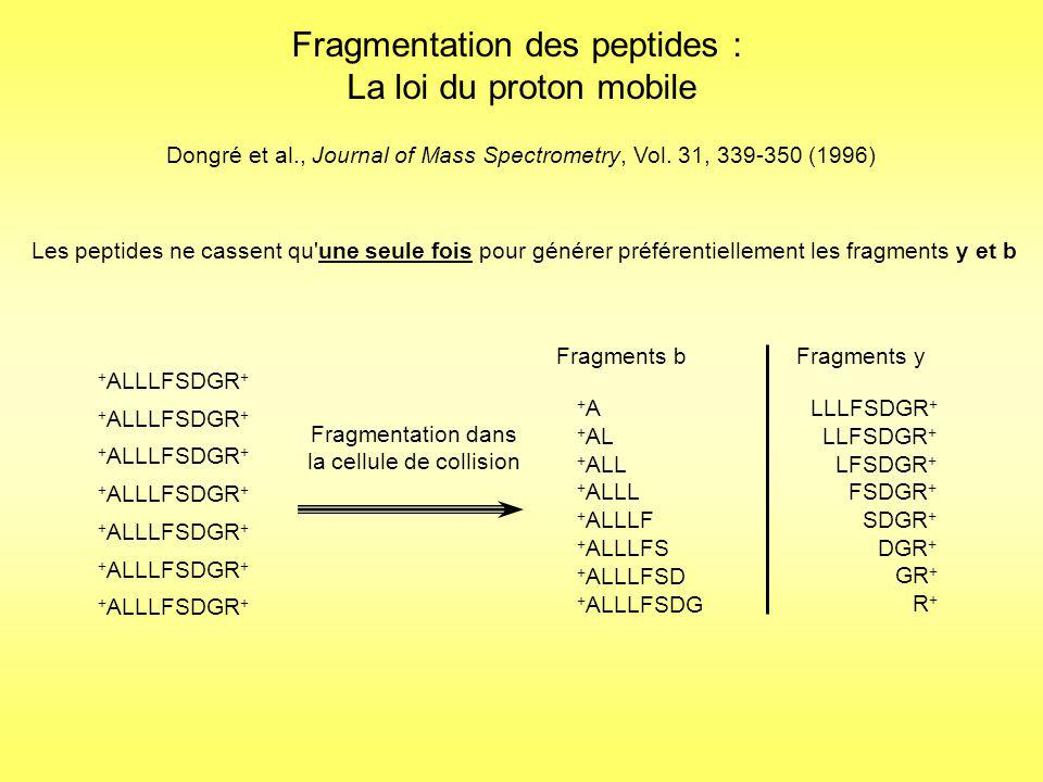 Fragmentation des peptides : La loi du proton mobile