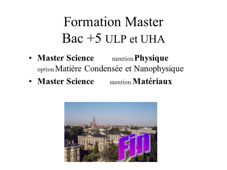 Formation Master Bac +5 ULP et UHA