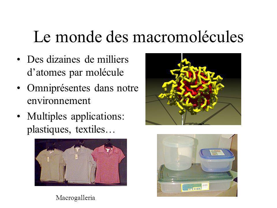 Le monde des macromolécules