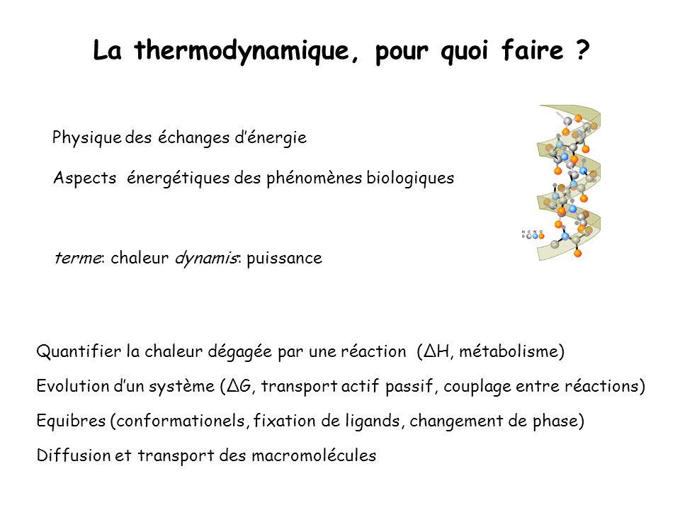 La thermodynamique, pour quoi faire