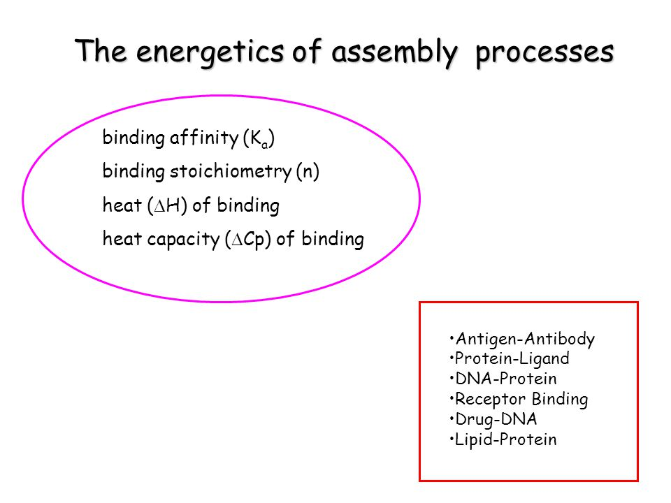 The energetics of assembly processes