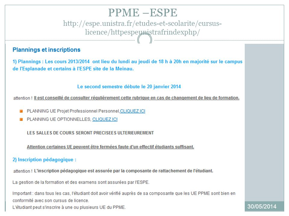 PPME –ESPE http://espe. unistra