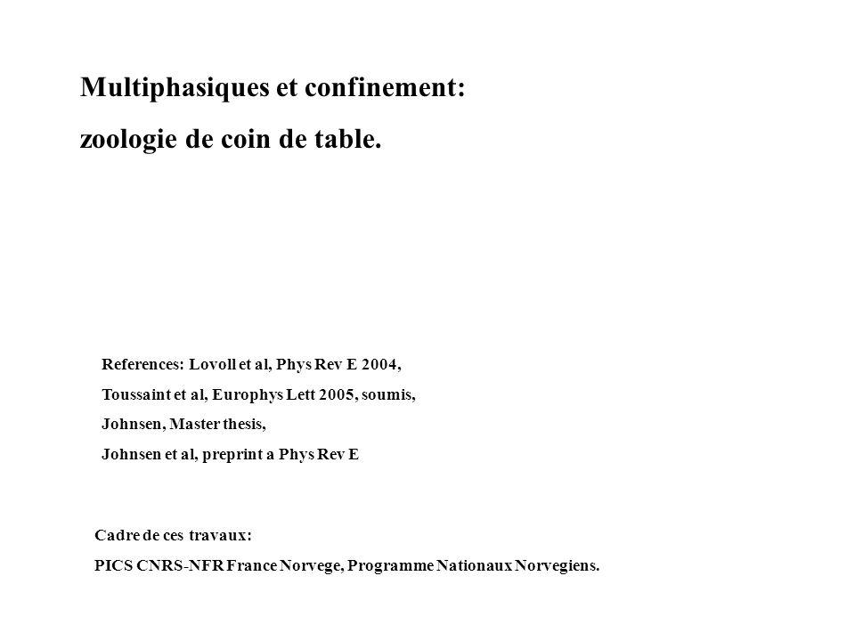 Multiphasiques et confinement: zoologie de coin de table.