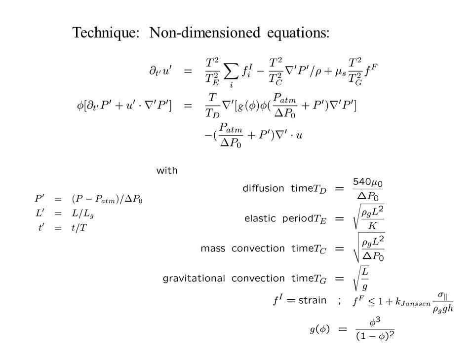 Technique: Non-dimensioned equations: