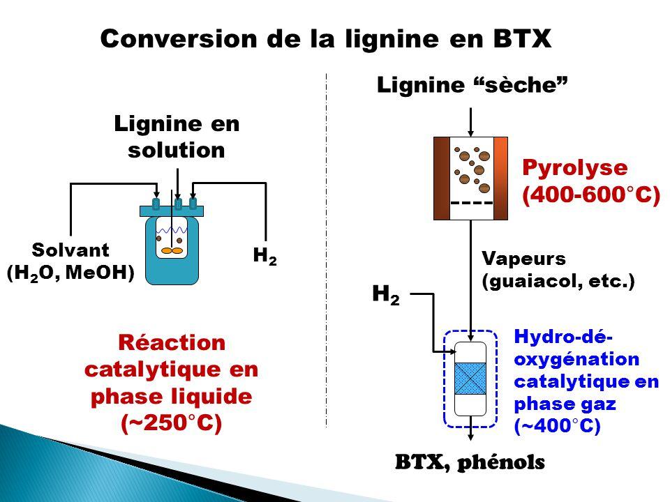 Conversion de la lignine en BTX