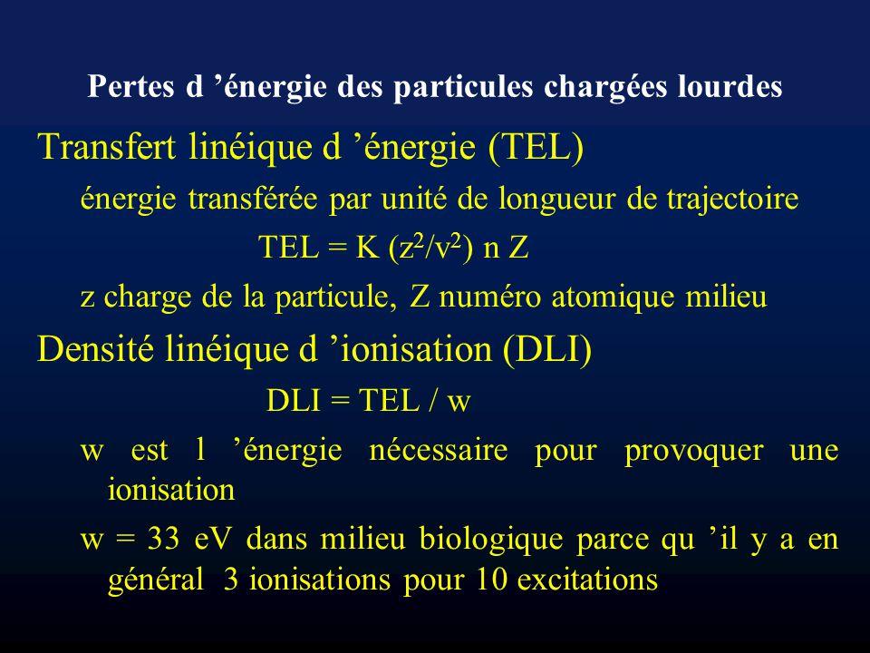 Pertes d 'énergie des particules chargées lourdes