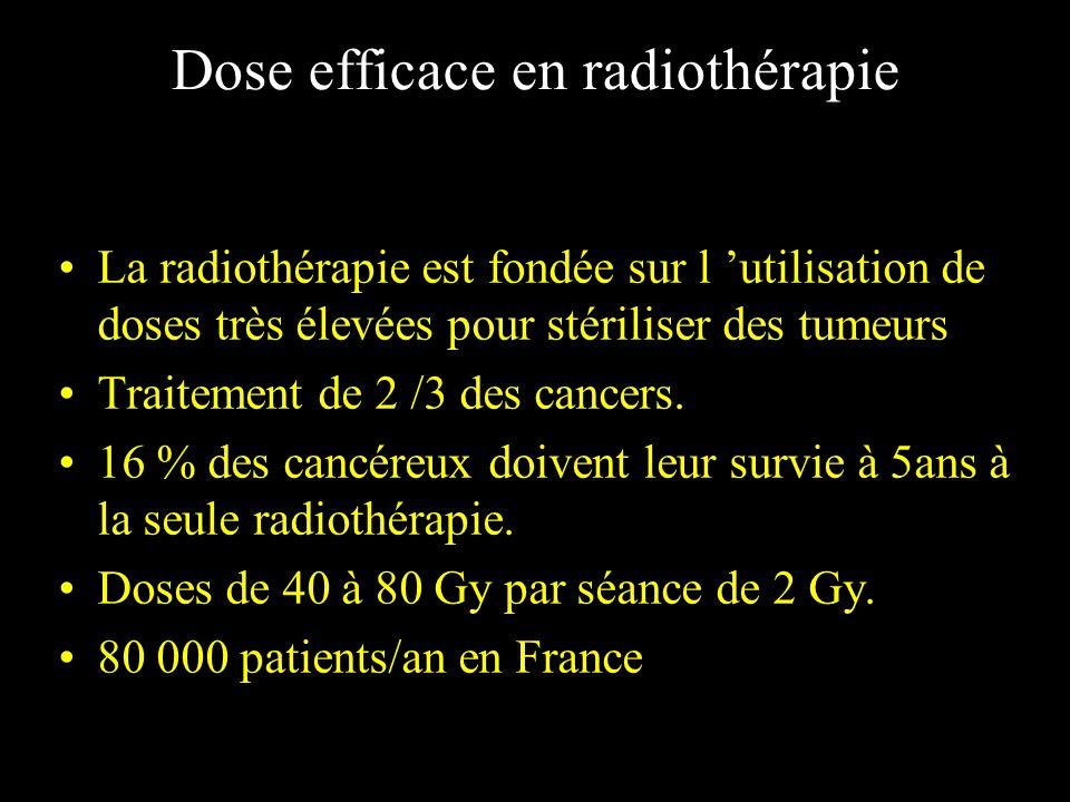Dose efficace en radiothérapie